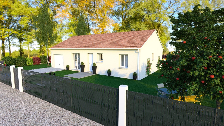Maisons + Terrains du constructeur LES DEMEURES REGIONALES • 90 m² • COGNAT LYONNE