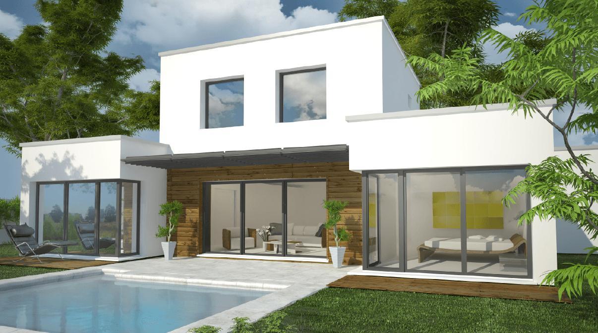 Maisons + Terrains du constructeur DEMEURES CALADOISES DESIGN • 130 m² • VILLETTE DE VIENNE