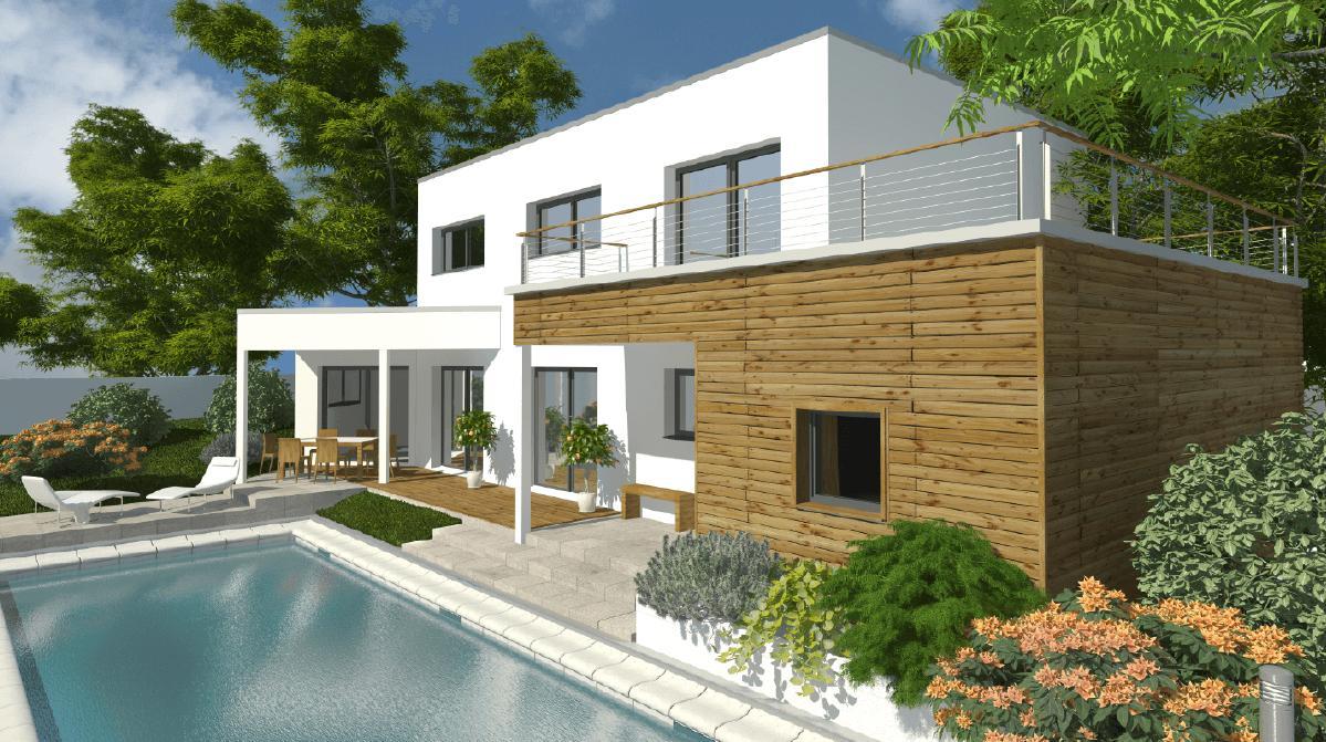 Maisons + Terrains du constructeur DEMEURES CALADOISES DESIGN • 147 m² • SAINT CHAMOND