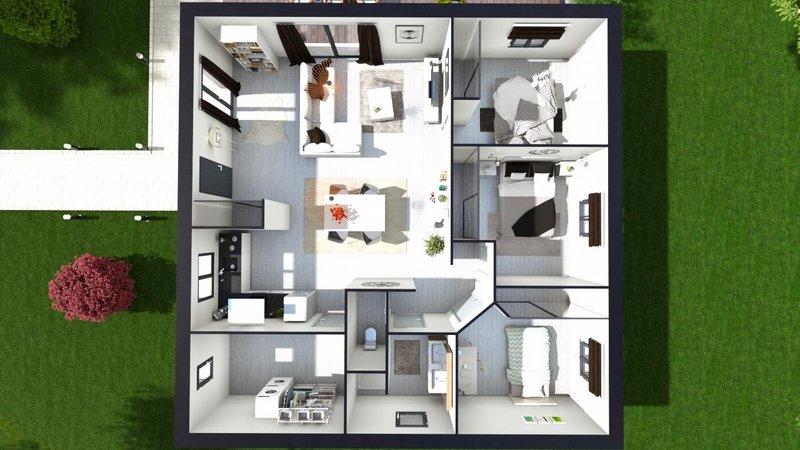 Maisons du constructeur LES MAISONS AURA - AGENCE DE BERGERAC • 95 m² • SAINT AUBIN DE NABIRAT