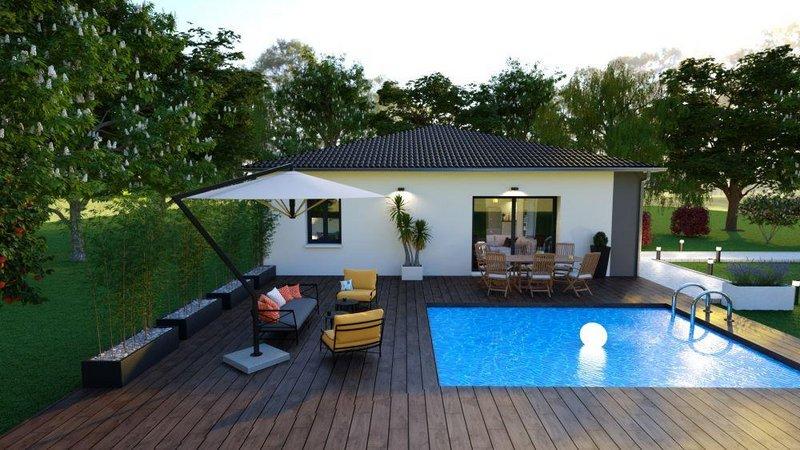 Maisons du constructeur LES MAISONS AURA - AGENCE DE BERGERAC • 94 m² • COURS DE PILE