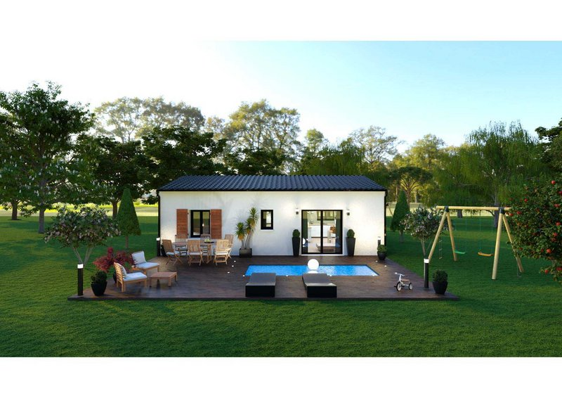 Maisons du constructeur LES MAISONS AURA - AGENCE DE BERGERAC • 66 m² • LAMONZIE SAINT MARTIN