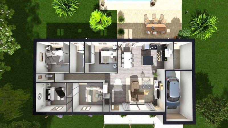 Maisons du constructeur LES MAISONS AURA - AGENCE DE BERGERAC • 104 m² • SAINT LAURENT DES VIGNES