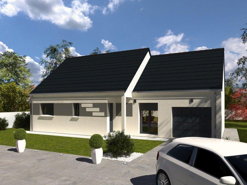 Maisons + Terrains du constructeur Les Maisons Lelievre • 88 m² • LA GAUDAINE