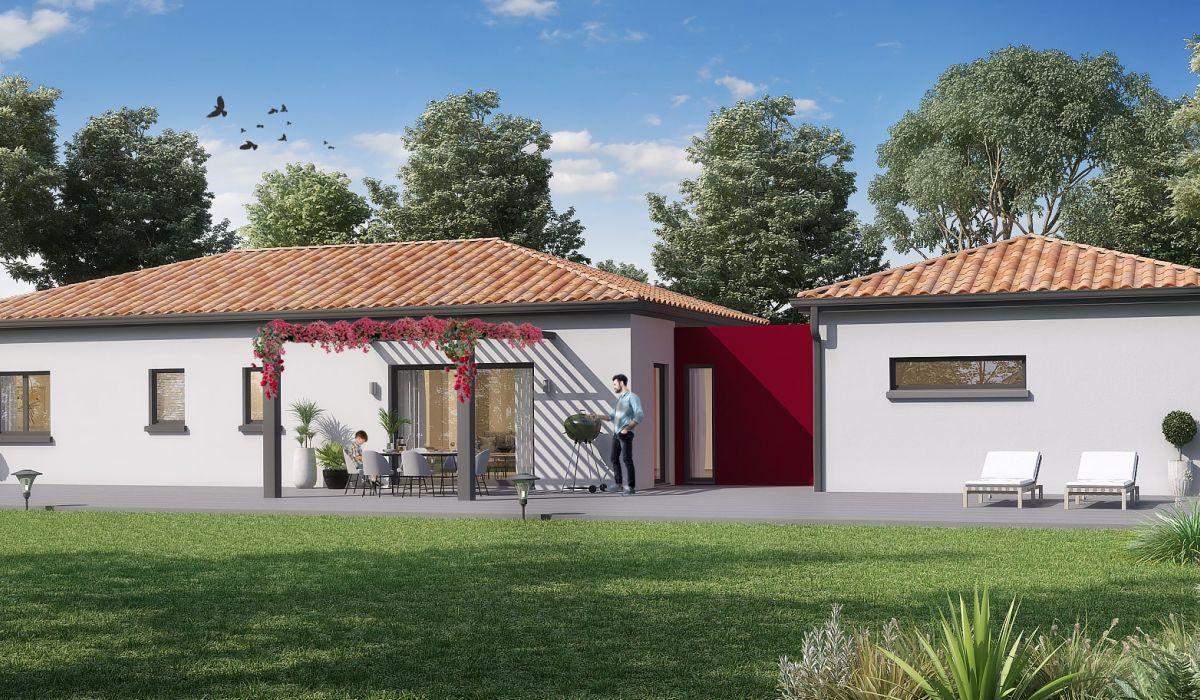 Maisons + Terrains du constructeur MAISONS OLMIERE • 130 m² • PUYGOUZON