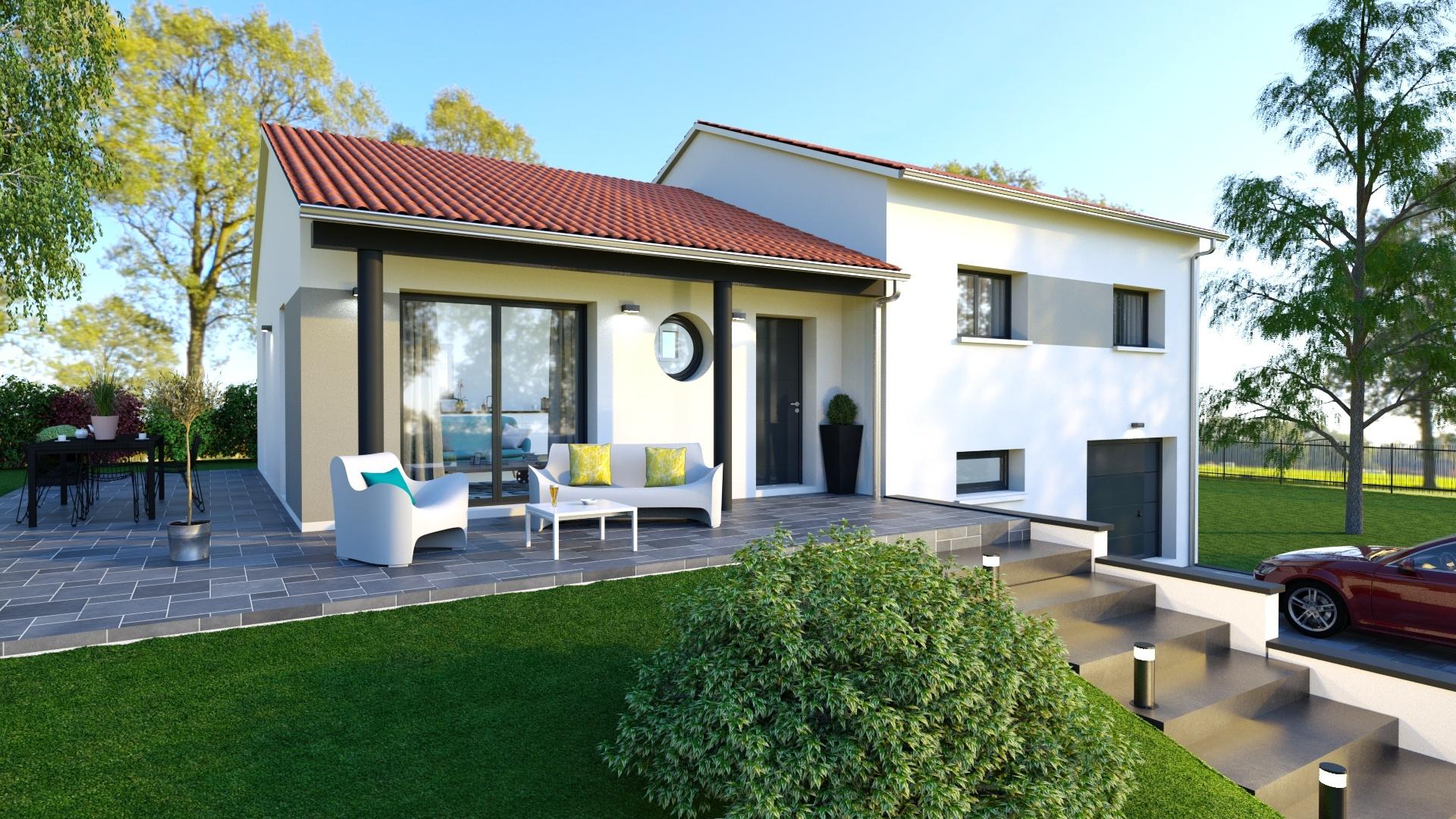 Maisons + Terrains du constructeur LOGIVELAY • 90 m² • SAINT GERMAIN LAPRADE
