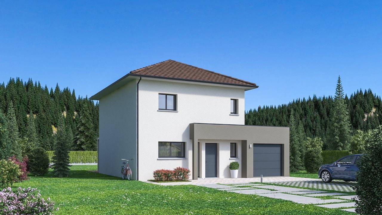 Maisons + Terrains du constructeur Maison Familiale Drumettaz Clarafond • 108 m² • LAISSAUD