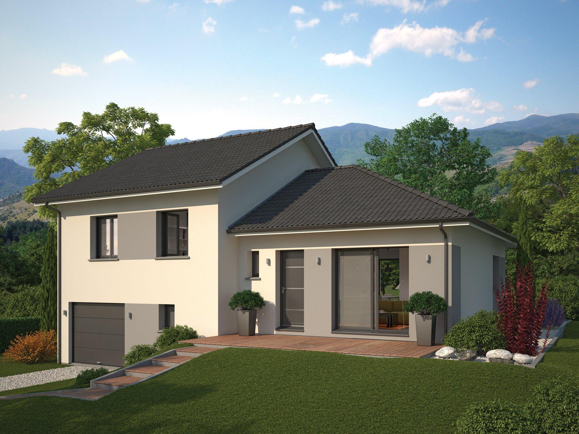 Maisons + Terrains du constructeur Maison Familiale Drumettaz Clarafond • 111 m² • CURIENNE