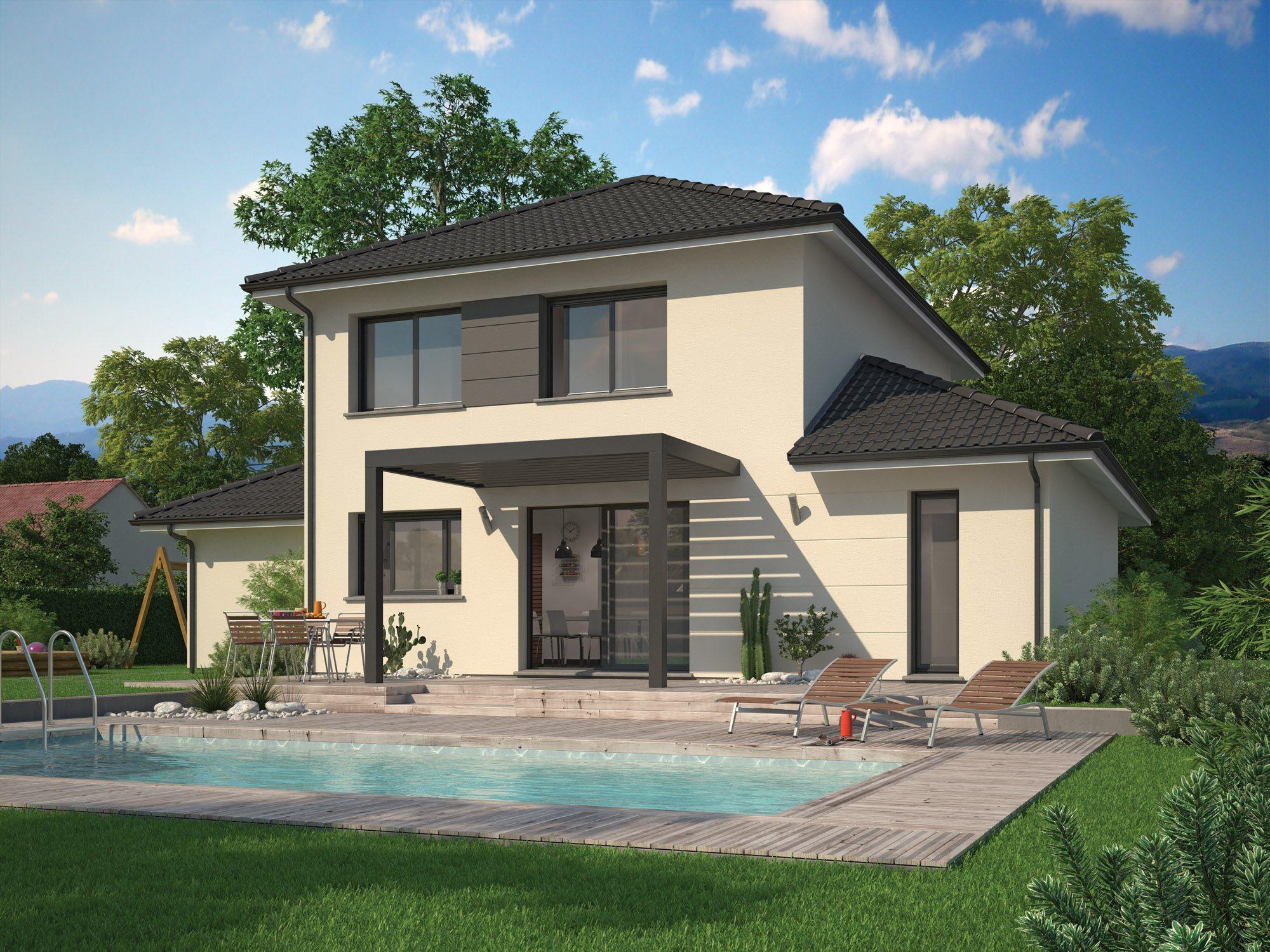 Maisons + Terrains du constructeur Maison Familiale Drumettaz Clarafond • 113 m² • SAINT OURS