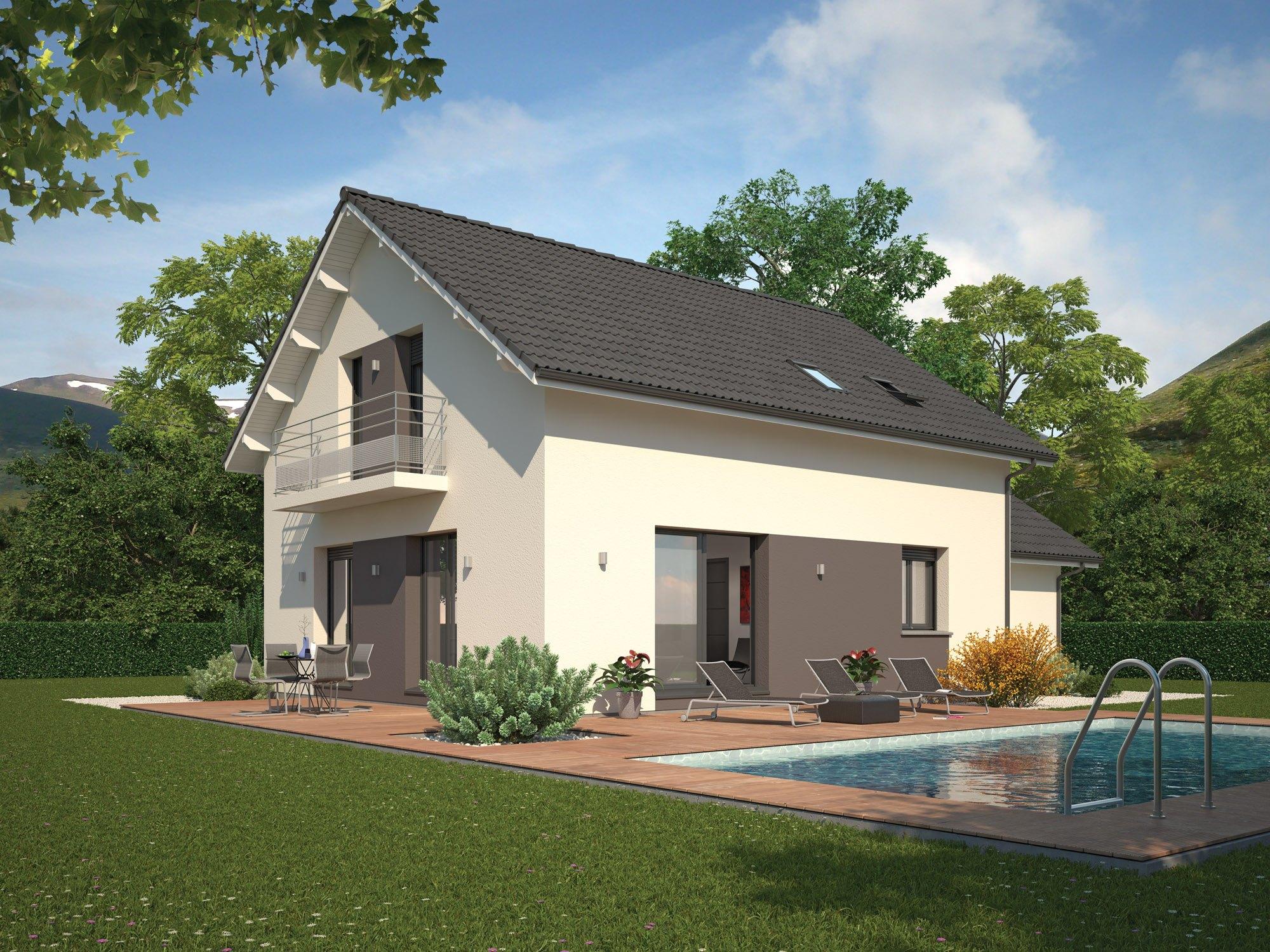 Maisons + Terrains du constructeur Maison Familiale Drumettaz Clarafond • 86 m² • AIX LES BAINS