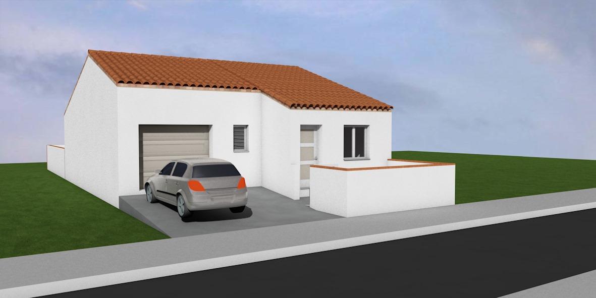 Maisons + Terrains du constructeur A M CONSTRUCTIONS • 80 m² • SAINT JEAN LASSEILLE