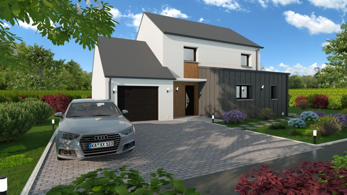 Maisons + Terrains du constructeur MAISONS D EN FRANCE BRETAGNE - AGENCE DE RENNES • 131 m² • BOURG DES COMPTES