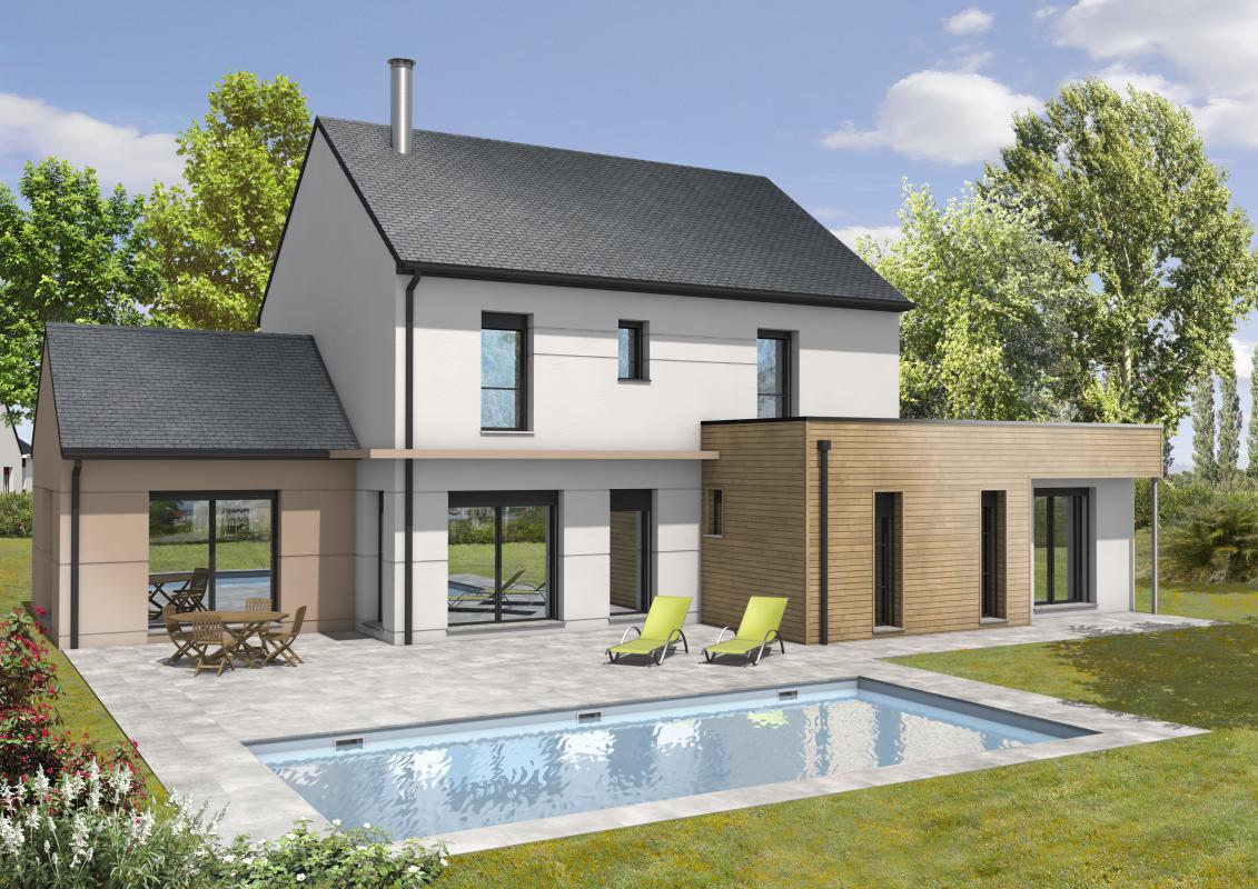 Maisons + Terrains du constructeur MAISONS D EN FRANCE BRETAGNE - AGENCE DE RENNES • 145 m² • SERVON SUR VILAINE
