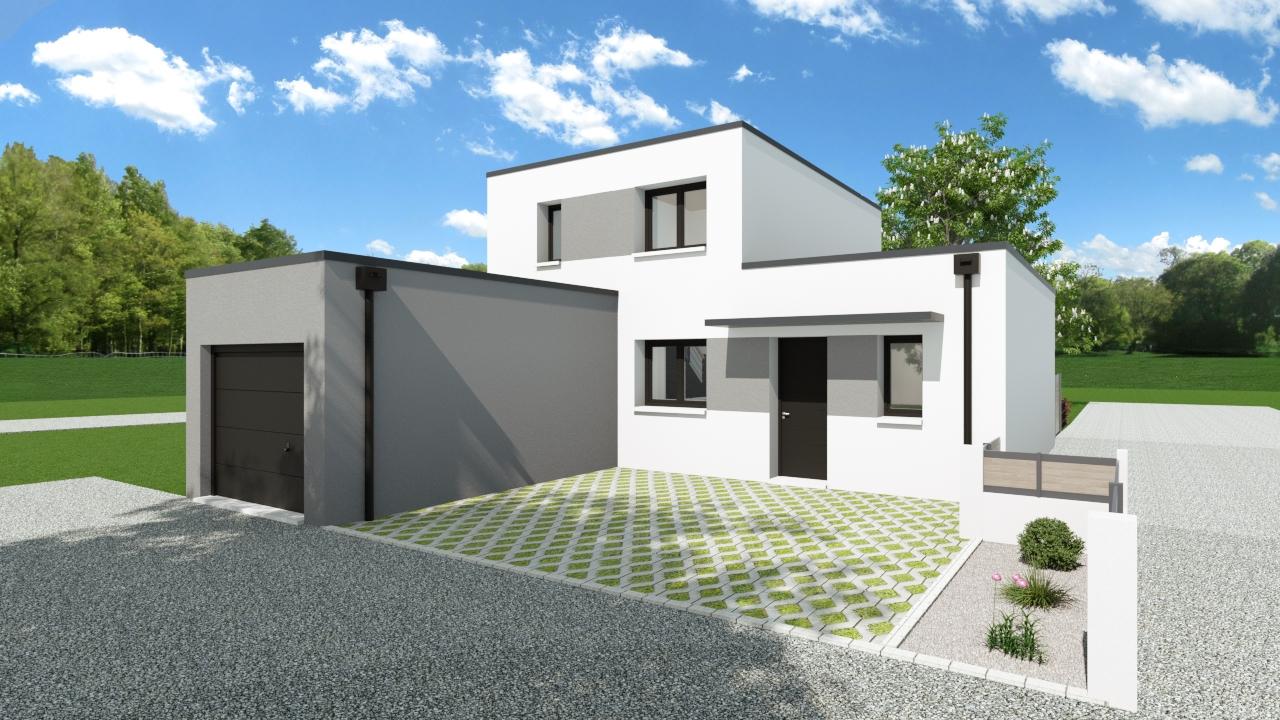 Maisons + Terrains du constructeur MAISONS D EN FRANCE BRETAGNE - AGENCE DE RENNES • 85 m² • MONTREUIL SUR ILLE