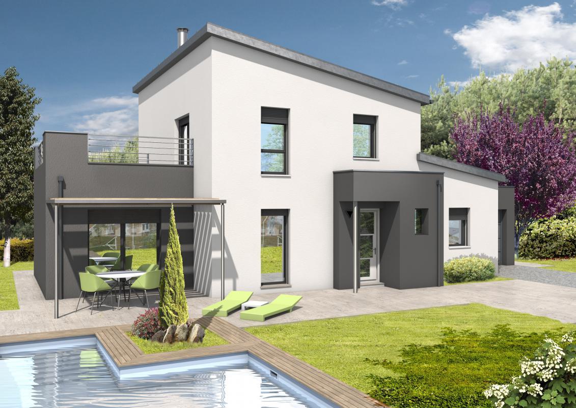 Maisons + Terrains du constructeur MAISONS D EN FRANCE BRETAGNE - AGENCE DE RENNES • 140 m² • BOURGBARRE