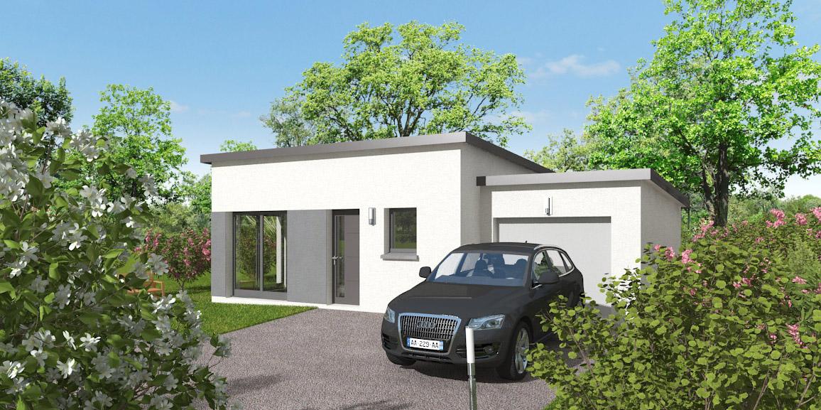 Maisons + Terrains du constructeur MAISONS D EN FRANCE BRETAGNE - AGENCE DE RENNES • 73 m² • HIREL