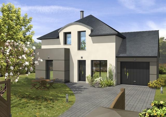 Maisons + Terrains du constructeur MAISONS D EN FRANCE BRETAGNE - AGENCE DE RENNES • 108 m² • CREVIN