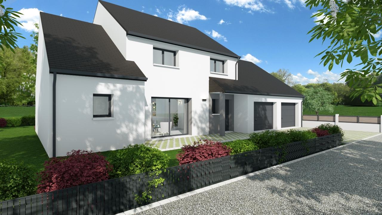 Maisons + Terrains du constructeur MAISONS D EN FRANCE BRETAGNE - AGENCE DE RENNES • 145 m² • PONT PEAN