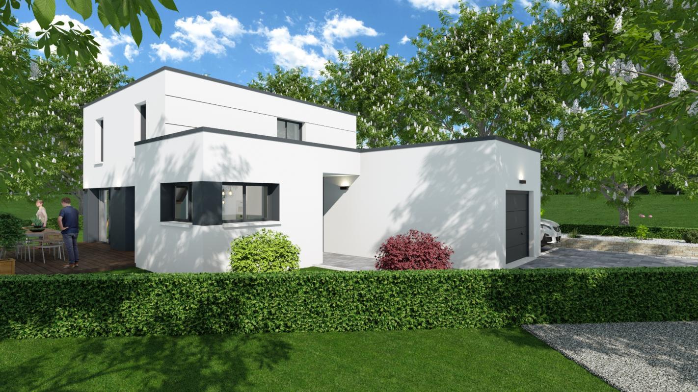 Maisons + Terrains du constructeur MAISONS D EN FRANCE BRETAGNE - AGENCE DE RENNES • 112 m² • PONT PEAN
