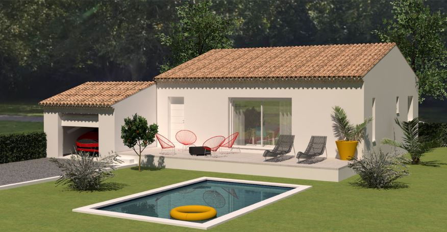 Maisons du constructeur LES MAISONS MJ • 80 m² • VALLABRIX