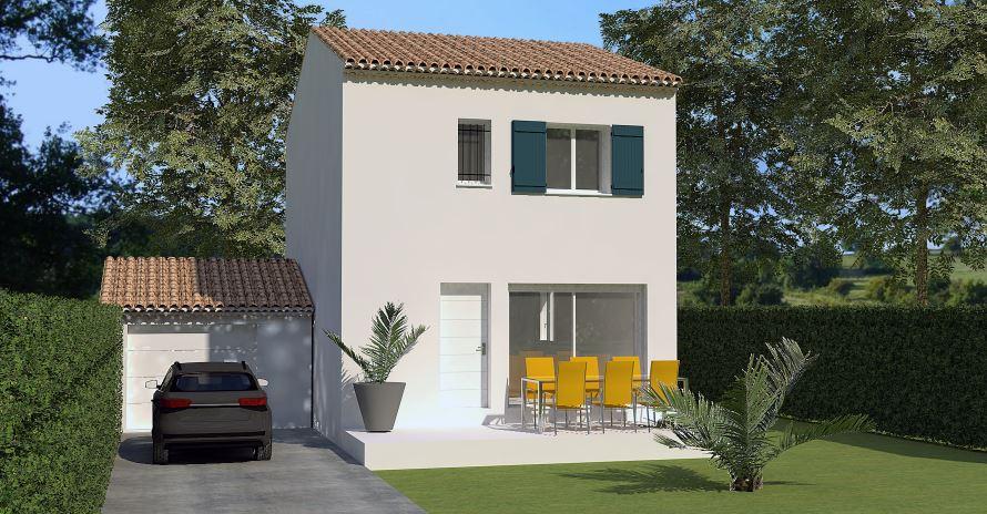 Maisons du constructeur LES MAISONS MJ • 82 m² • BEAUCAIRE