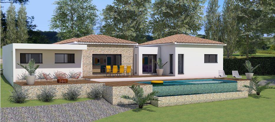 Maisons + Terrains du constructeur LES MAISONS MJ • 120 m² • BOUILLARGUES