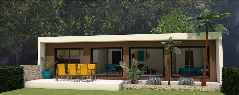 Maisons du constructeur LES MAISONS MJ • 80 m² • MEYNES