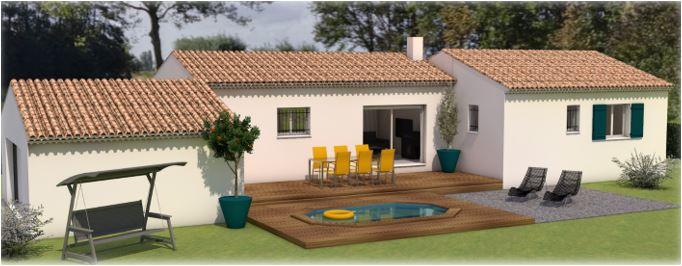 Maisons du constructeur LES MAISONS MJ • 90 m² • CASTILLON DU GARD