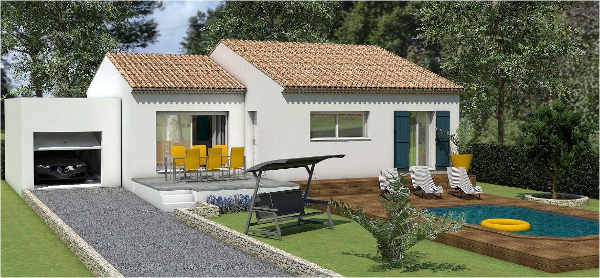 Maisons du constructeur LES MAISONS MJ • 90 m² • VERS PONT DU GARD
