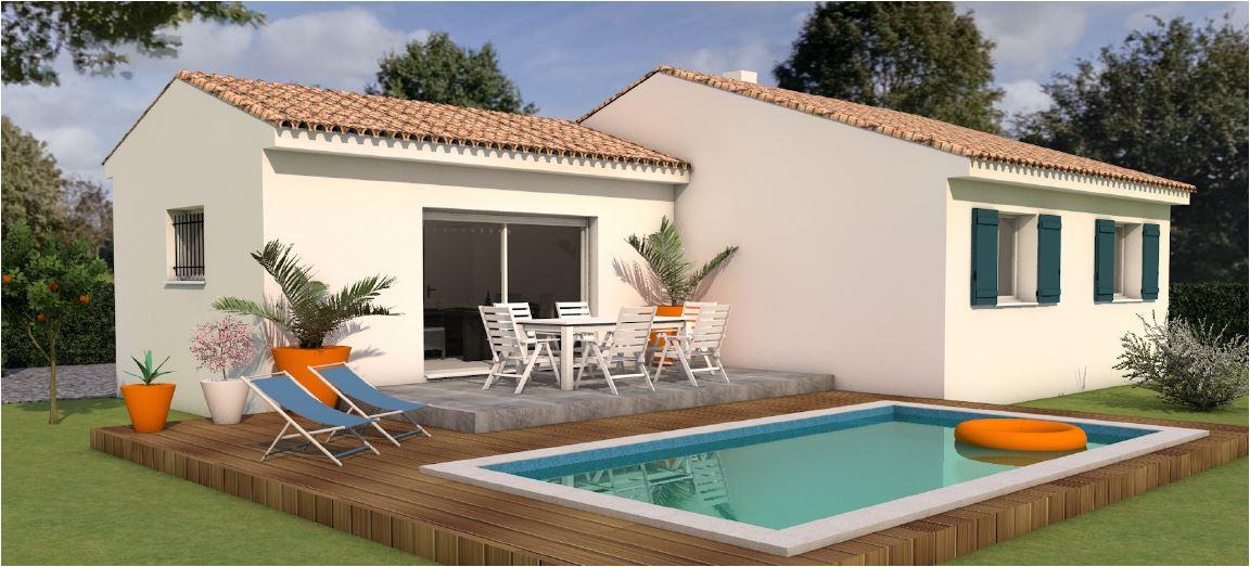 Maisons du constructeur LES MAISONS MJ • 82 m² • LEDENON