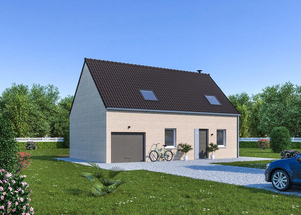 Maisons + Terrains du constructeur Maisons Phénix Saint Quentin • 105 m² • SAVY