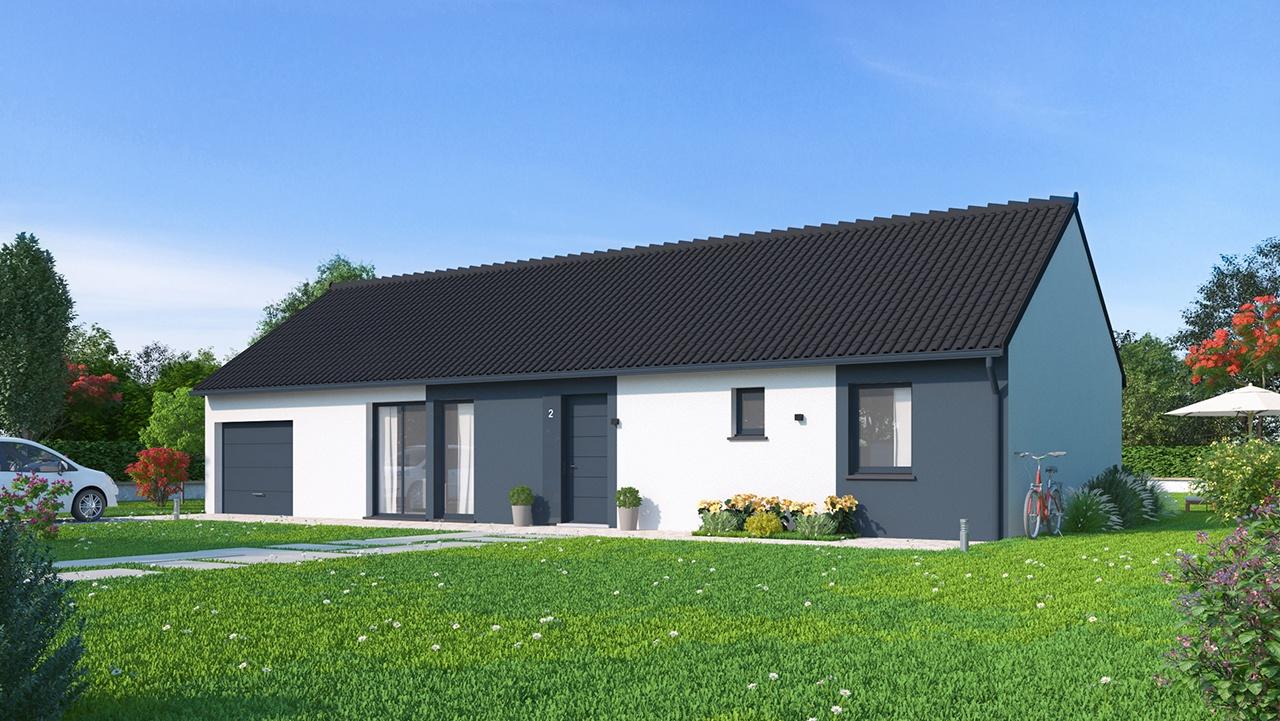 Maisons + Terrains du constructeur Maisons Phénix Saint Quentin • 102 m² • PONTRUET