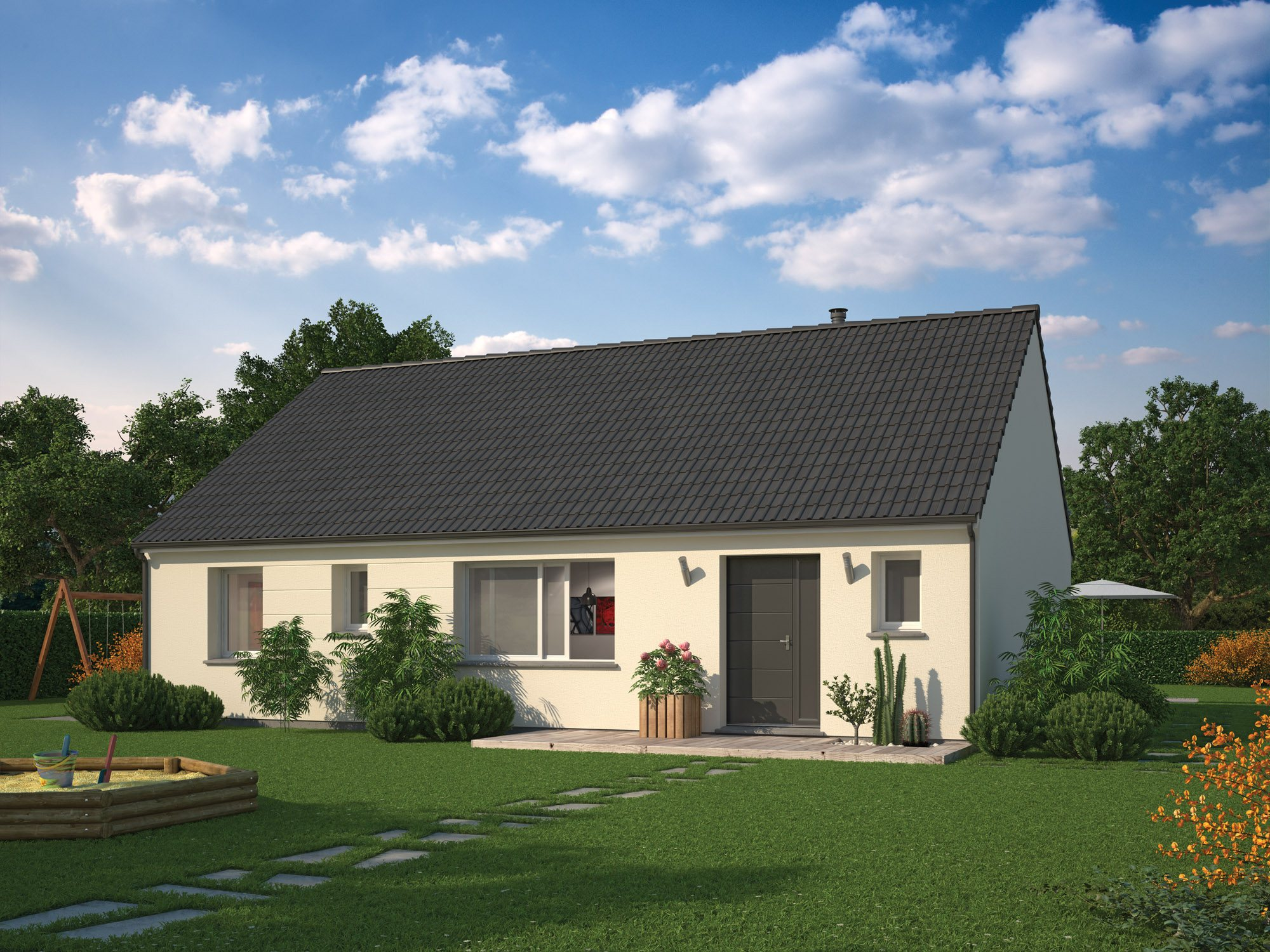 Maisons + Terrains du constructeur MAISON FAMILIALE • 97 m² • COIGNIERES