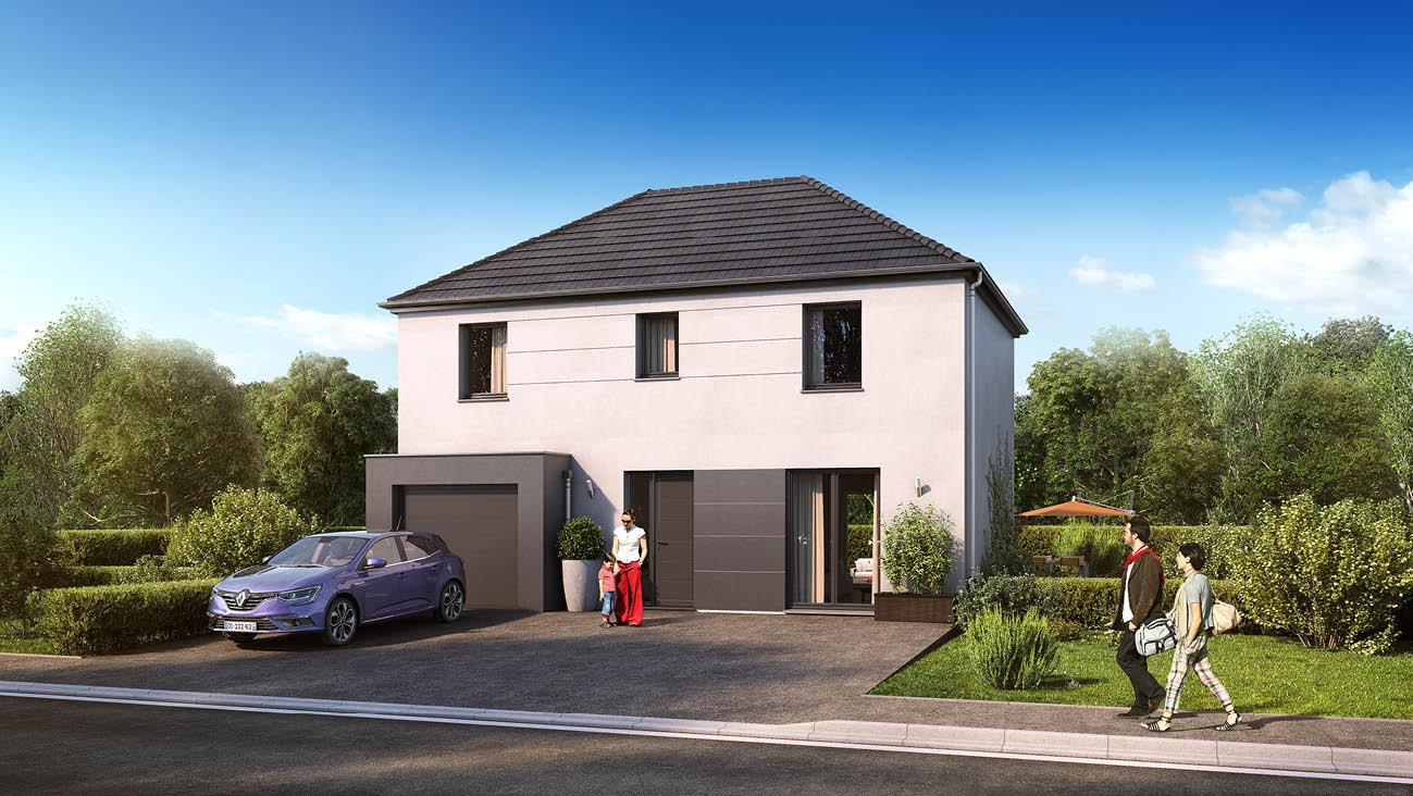 Maisons + Terrains du constructeur MAISON FAMILIALE • 102 m² • DREUX