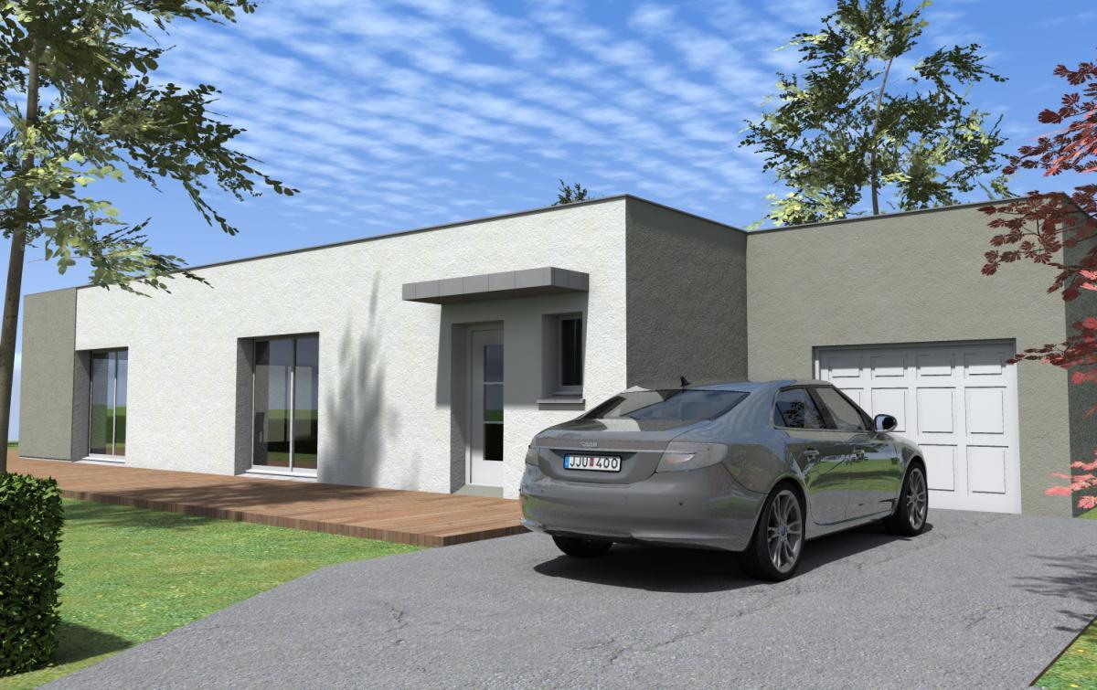 Maisons du constructeur ESQUISS 38 • 90 m² • MARCOLLIN