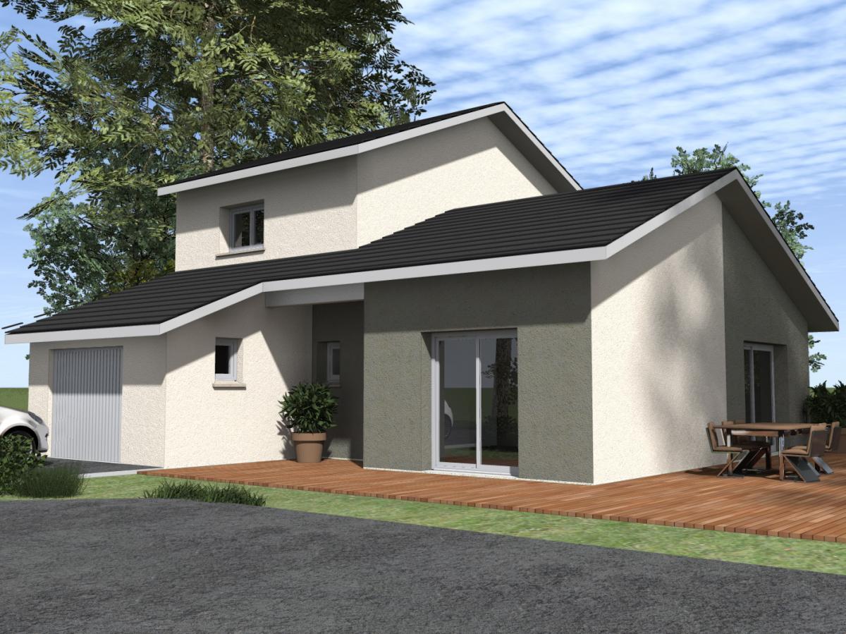 Maisons du constructeur ESQUISS 38 • 100 m² • COUBLEVIE