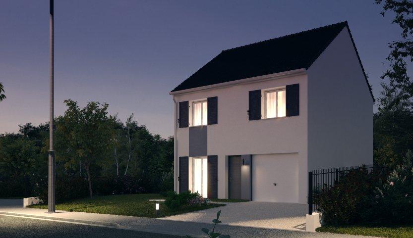 Maisons du constructeur Habitat Parcoeur La Ville du Bois 2 • 87 m² • BRIIS SOUS FORGES