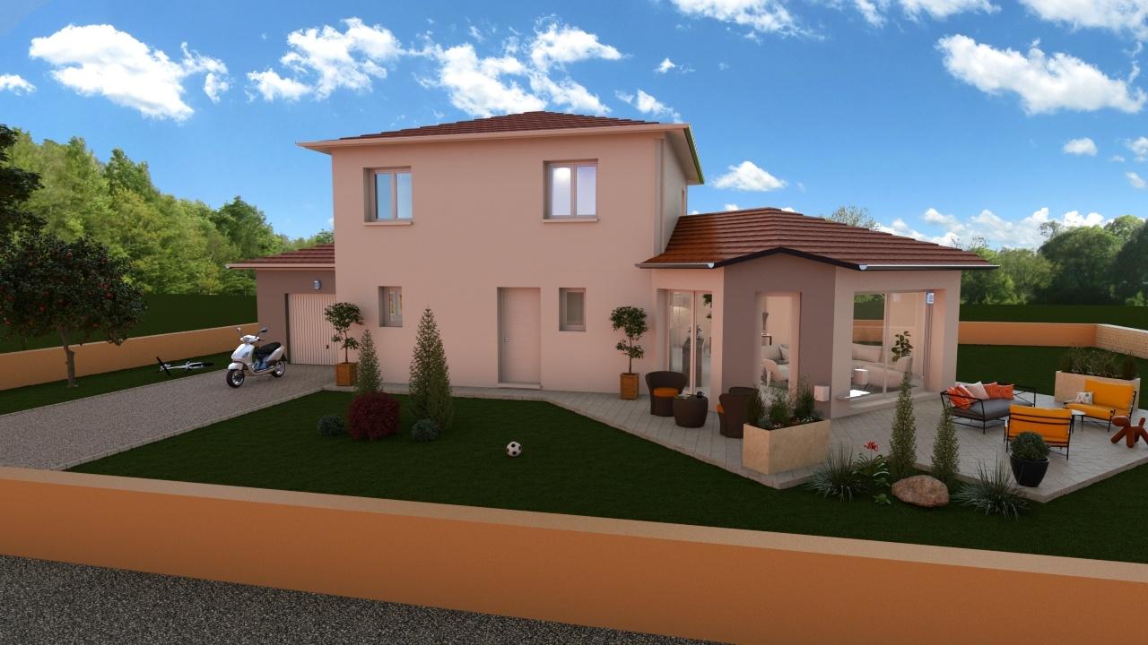 Maisons + Terrains du constructeur Demeures Caladoises • 131 m² • BREZINS