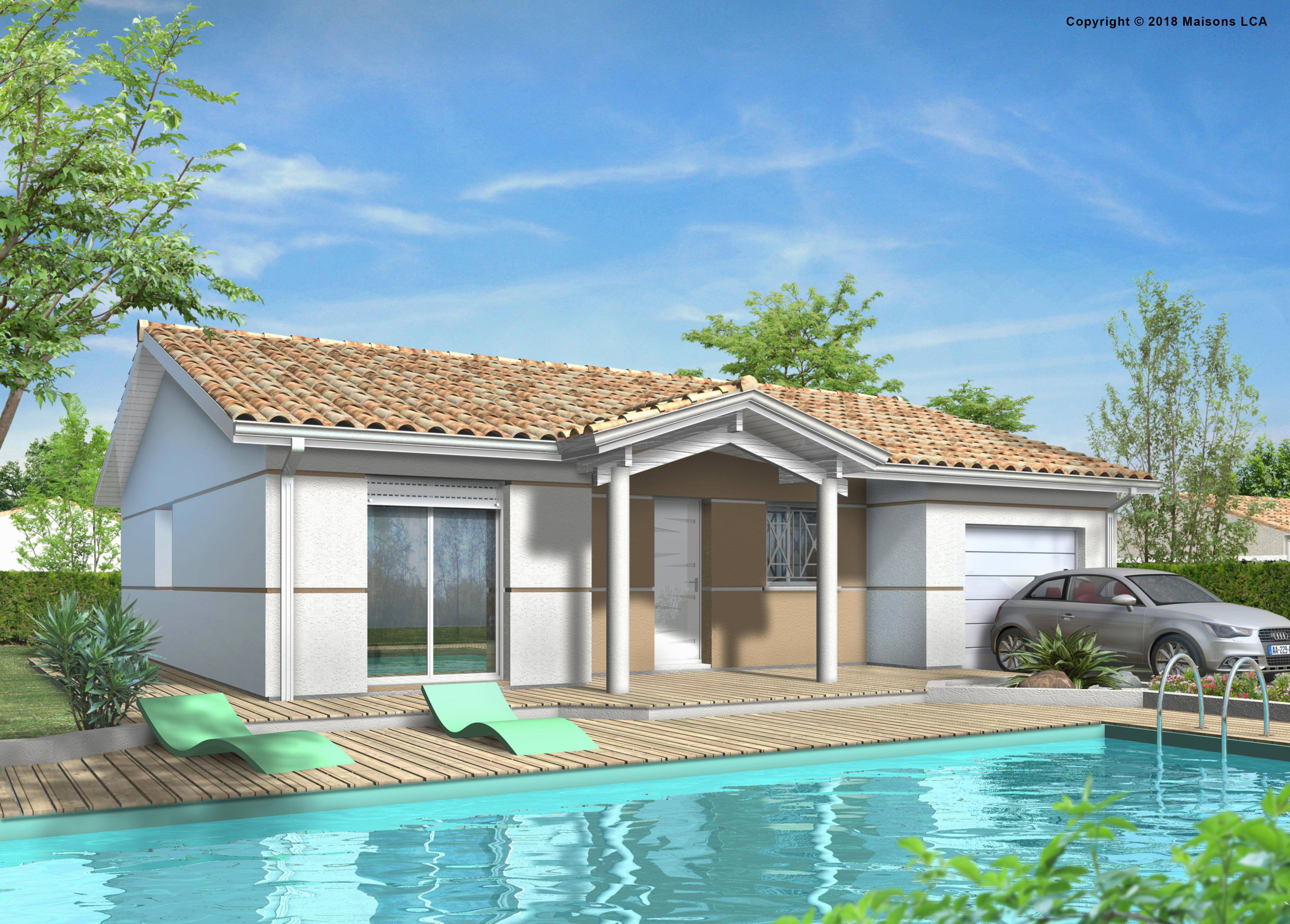 Maisons + Terrains du constructeur LCA LANGON • 87 m² • SAINT PARDON DE CONQUES