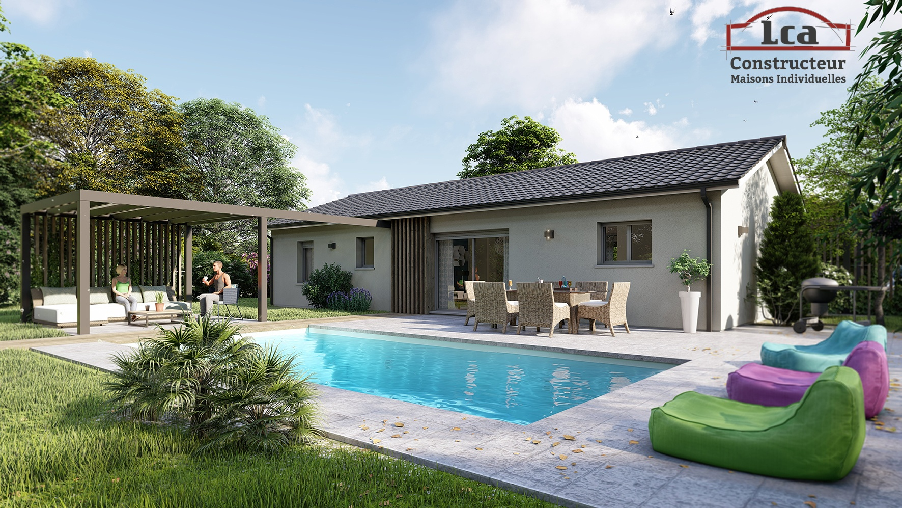 Maisons + Terrains du constructeur LCA LANGON • 80 m² • SAINTE BAZEILLE