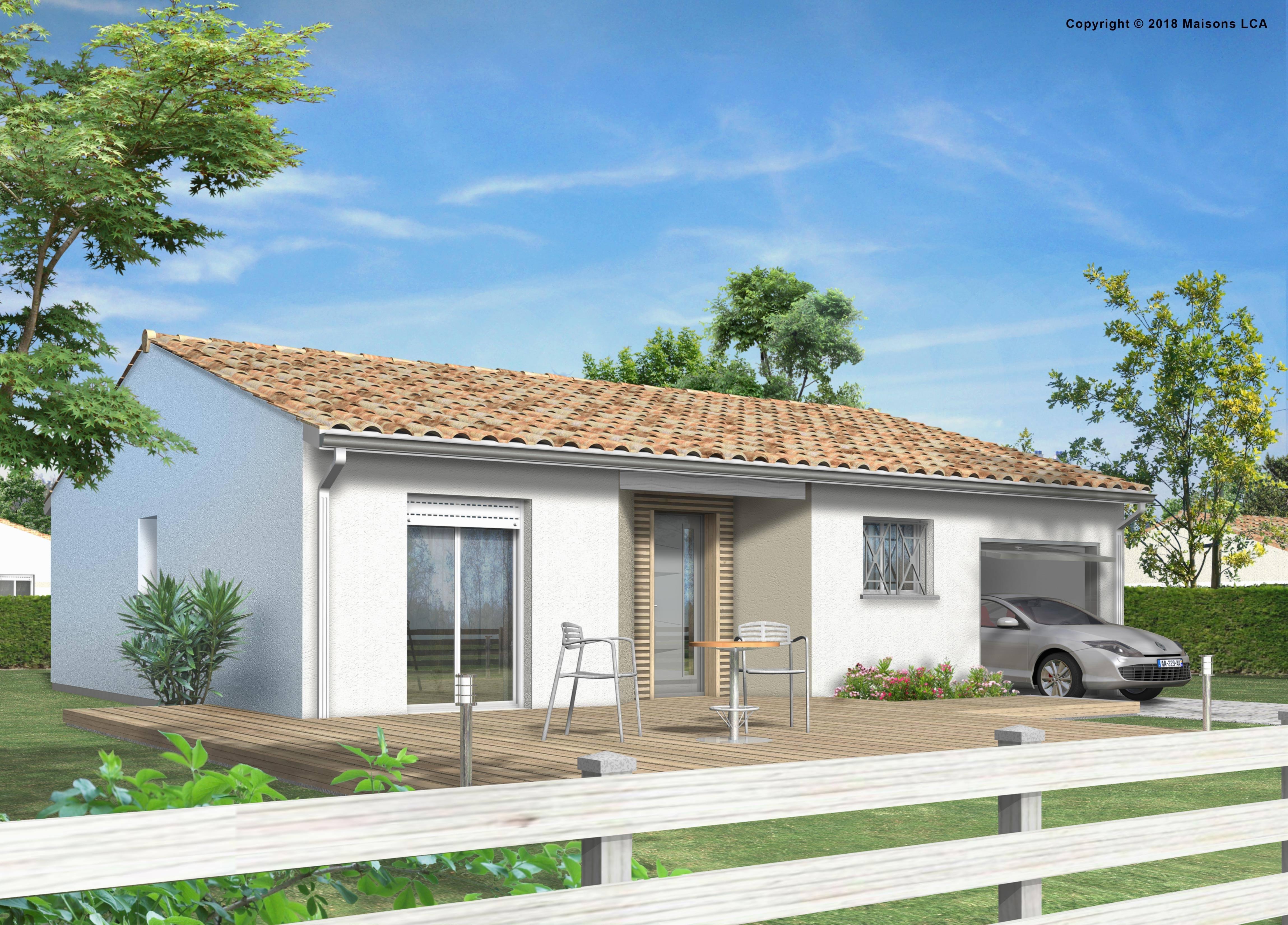 Maisons + Terrains du constructeur LCA CREON • 87 m² • LUSSAC