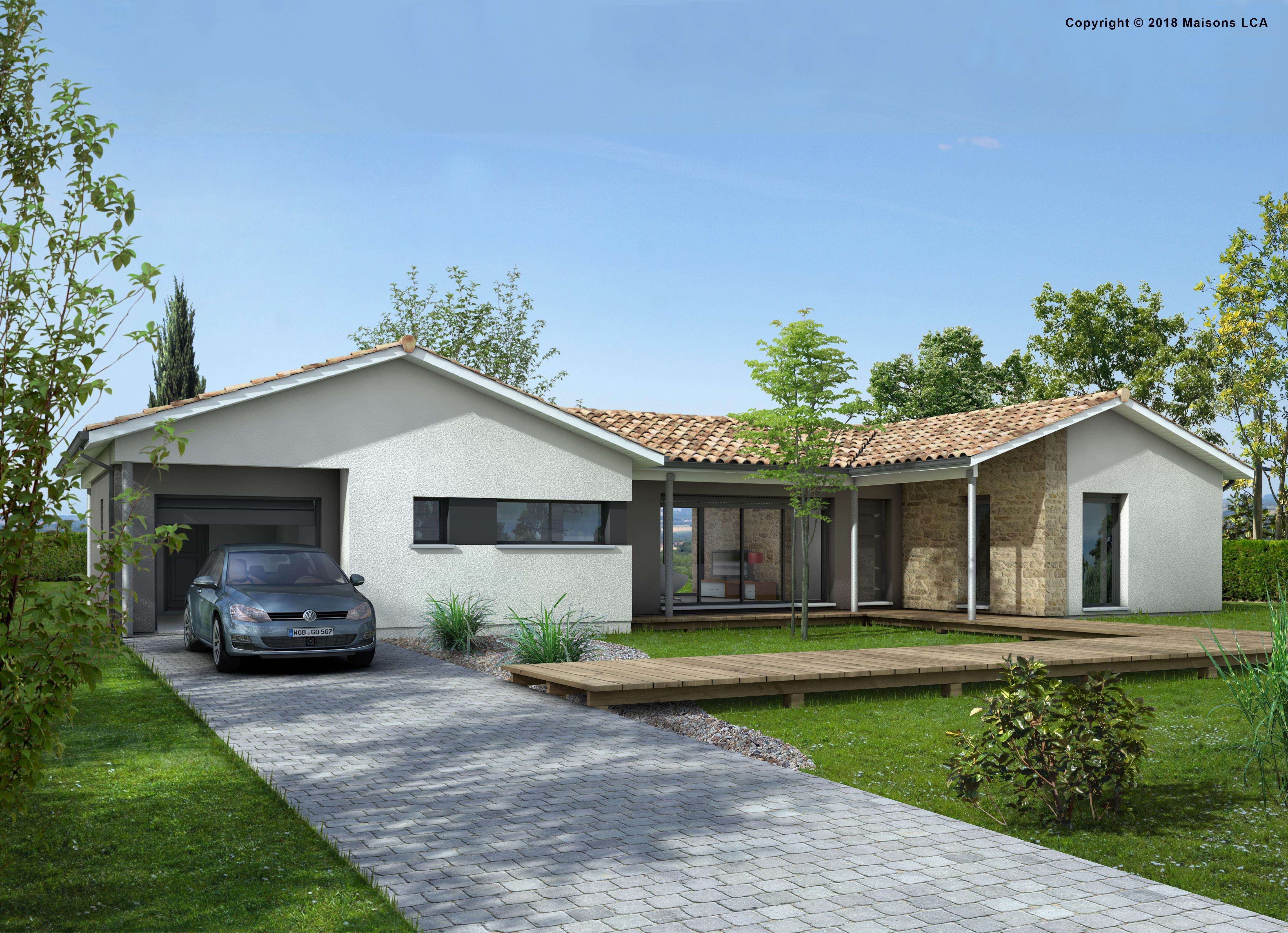 Maisons + Terrains du constructeur LCA MONT DE MARSAN • 90 m² • MEILHAN