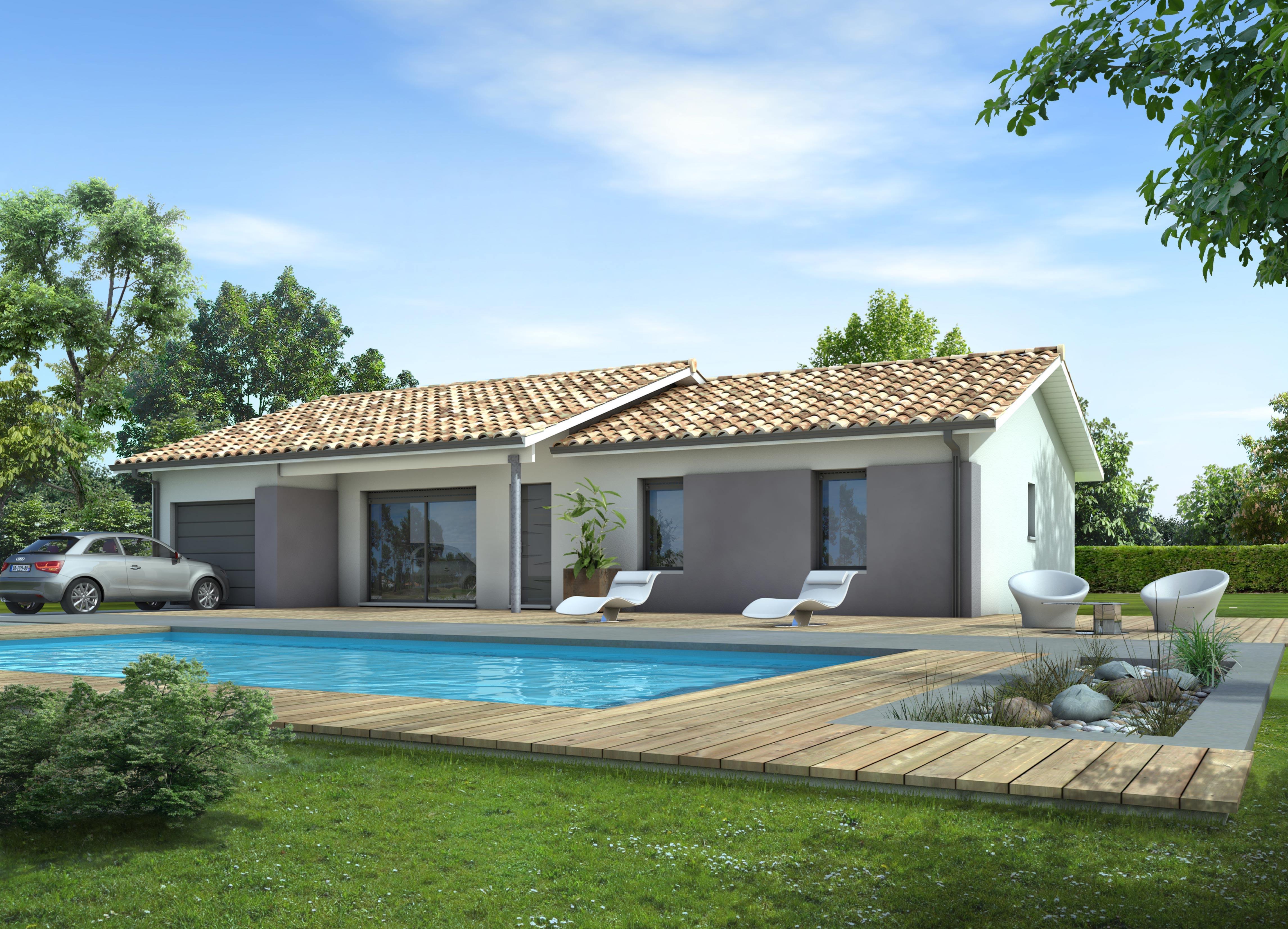 Maisons + Terrains du constructeur LCA MONT DE MARSAN • 90 m² • BRETAGNE DE MARSAN