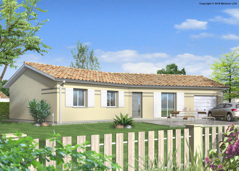 Maisons + Terrains du constructeur LCA MONT DE MARSAN • 89 m² • RION DES LANDES