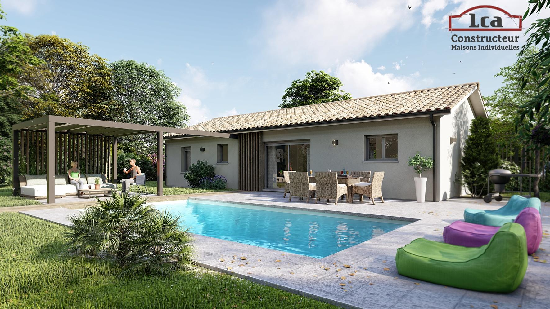 Maisons + Terrains du constructeur LCA MONT DE MARSAN • 89 m² • AIRE SUR L'ADOUR