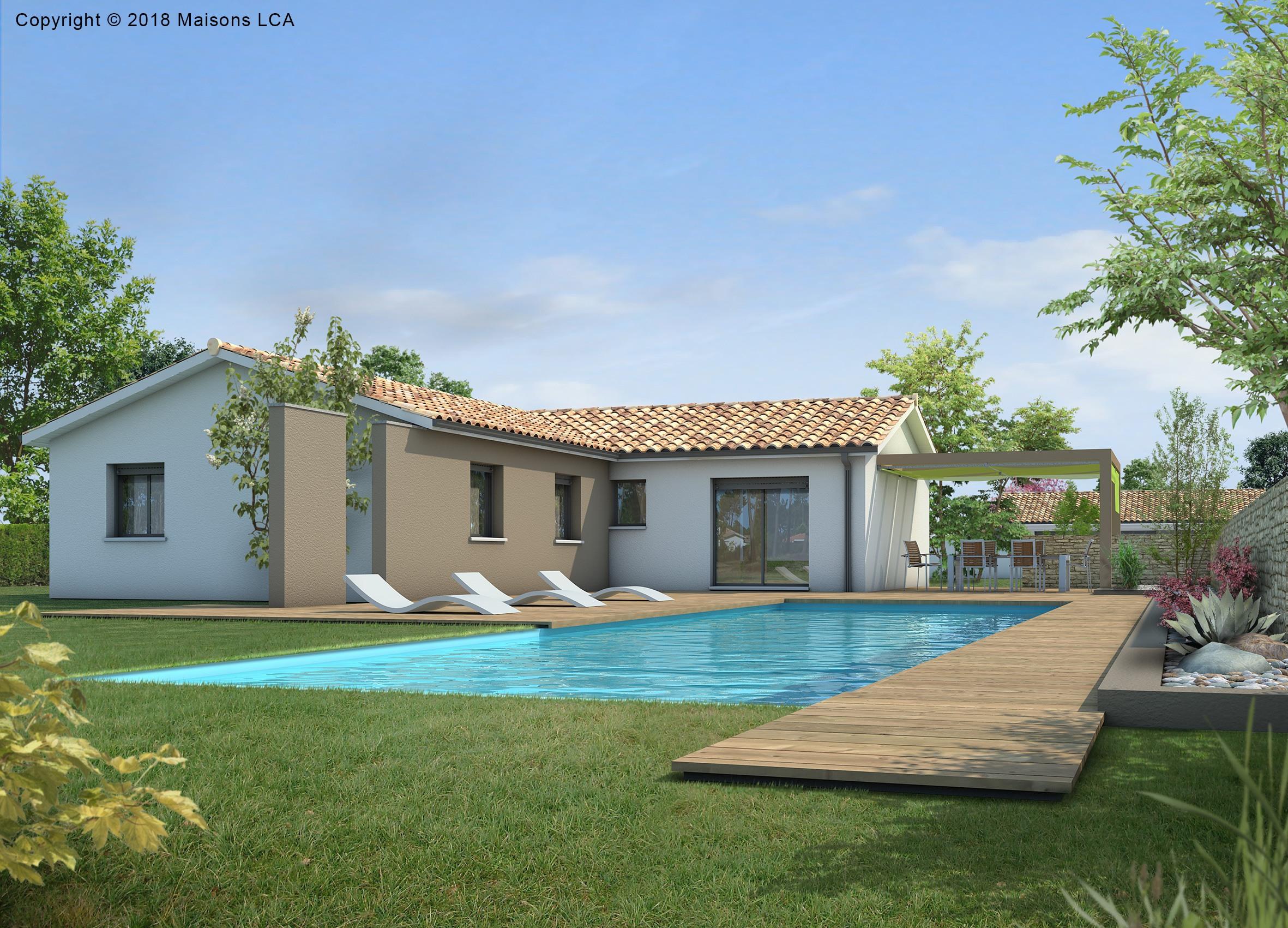 Maisons + Terrains du constructeur LCA MONT DE MARSAN • 92 m² • YGOS SAINT SATURNIN