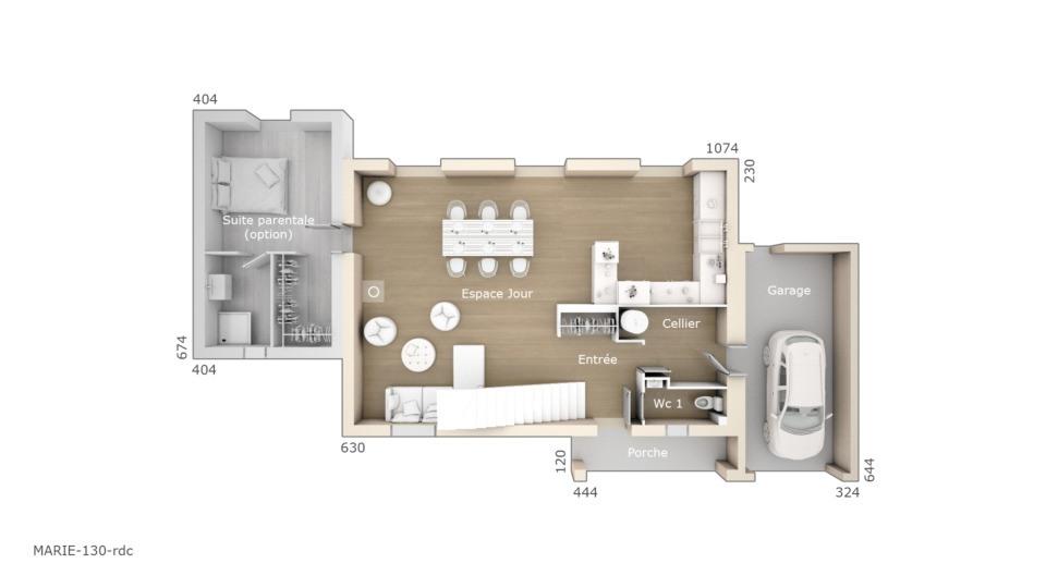 Maisons + Terrains du constructeur LES MAISONS DE MANON • 130 m² • CARPENTRAS