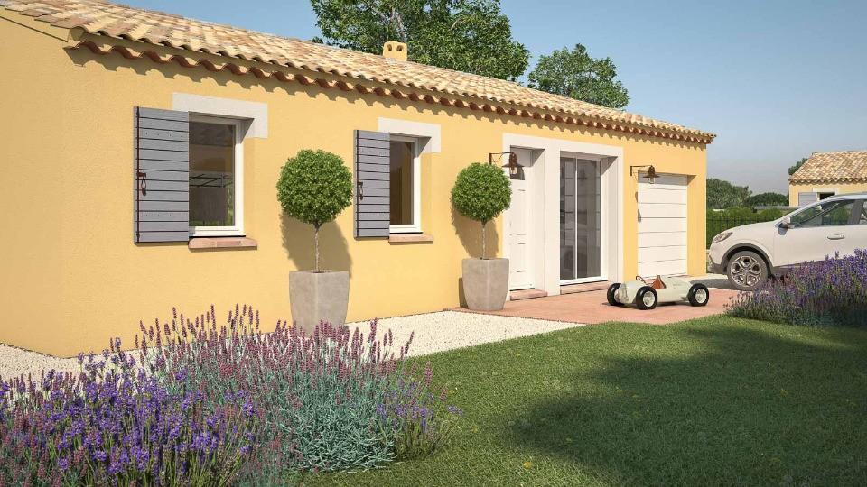 Maisons + Terrains du constructeur LES MAISONS DE MANON • 61 m² • CAROMB