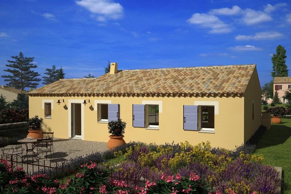 Maisons + Terrains du constructeur LES MAISONS DE MANON • 74 m² • CHATEAUNEUF DE GADAGNE