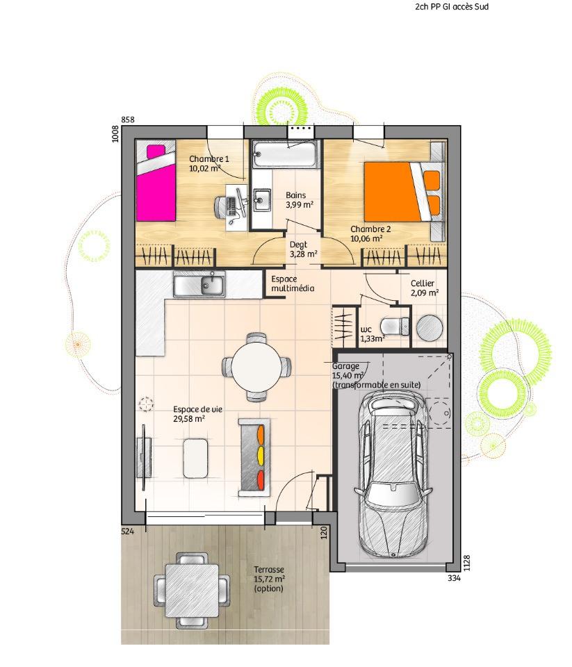 Maisons + Terrains du constructeur LMP CONSTRUCTEUR • 60 m² • LA TRANCHE SUR MER